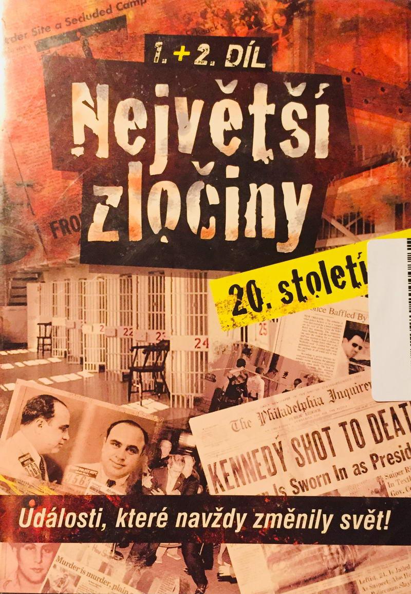 Největší zločiny 20. století - 1. a 2. díl - DVD /slim/