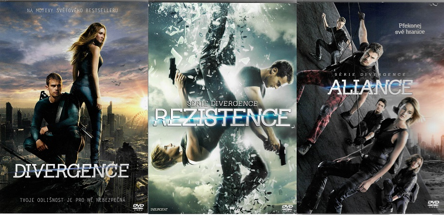 Série Divergence 3 DVD ( Divergence / Rezistence / Aliance )