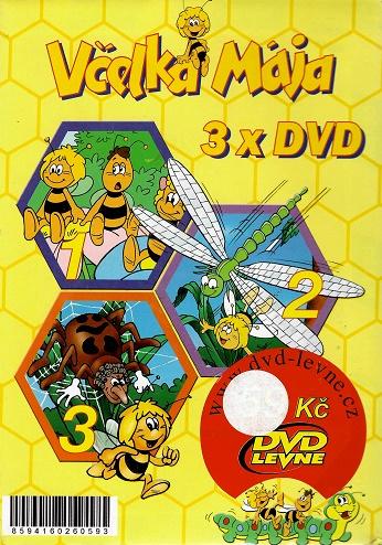 Včelka Mája 3x DVD - žlutá