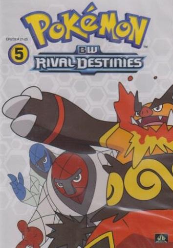 Pokémon : BW rival destinies 21. - 25. díl ( plast ) DVD