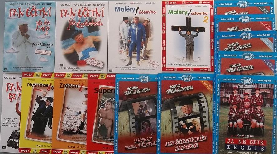 Kolekce Pan účetní KOMPLETNÍ - 10DVD ( + 5DVD filmy P. Villagio DÁREK )