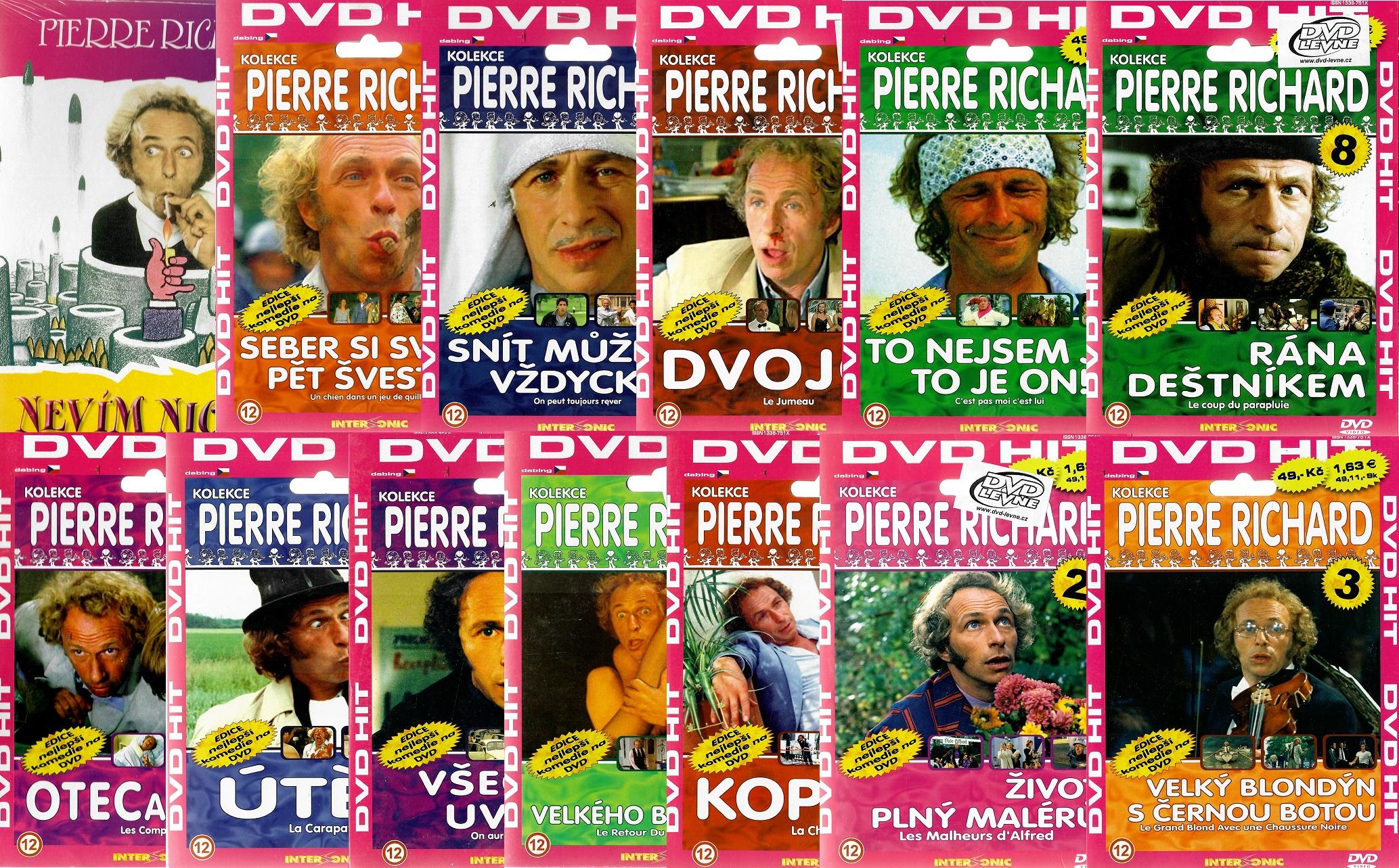 Kolekce Pierre Richard 13DVD