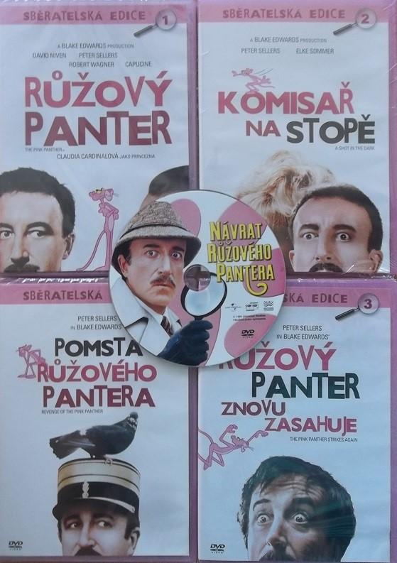 Kolekce Růžový panter 5 DVD