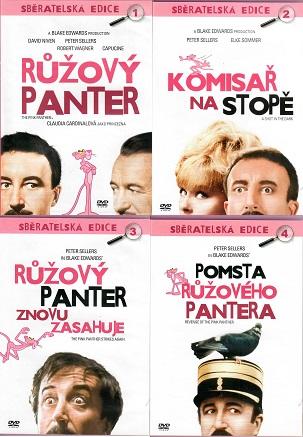 Kolekce Růžový panter 4 DVD  ( nekompletní )