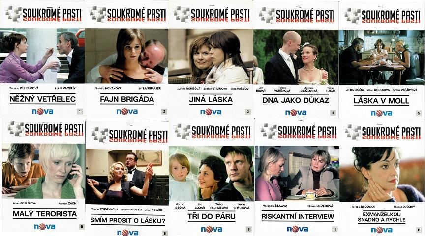 Kolekce Soukromé pasti 10 DVD ( nekompletní )