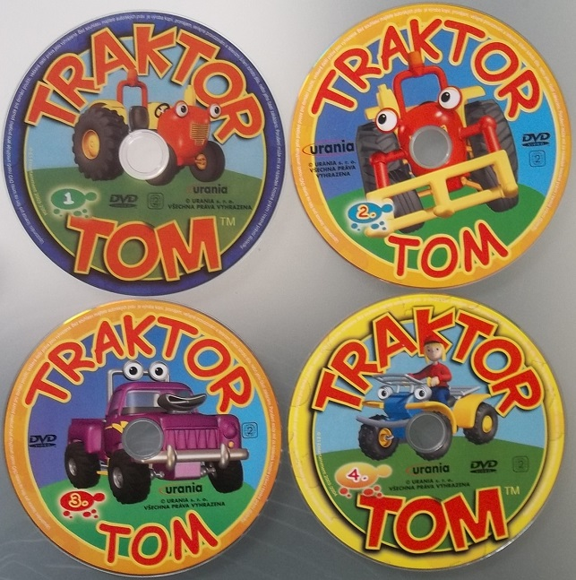 Kolekce Traktor Tom 4 DVD ( samostatné disky )