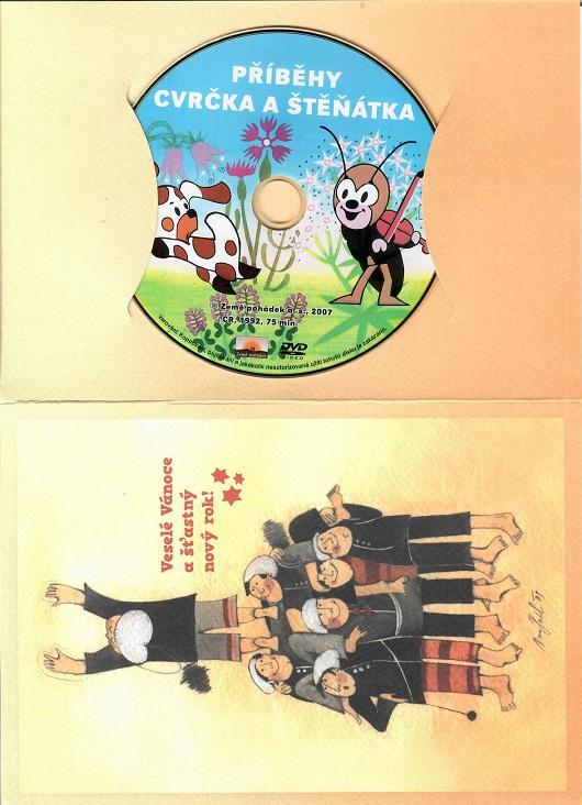 60 večerníčků - 8 - Příběhy cvrčka a štěňátka ( dárkový papír obal )