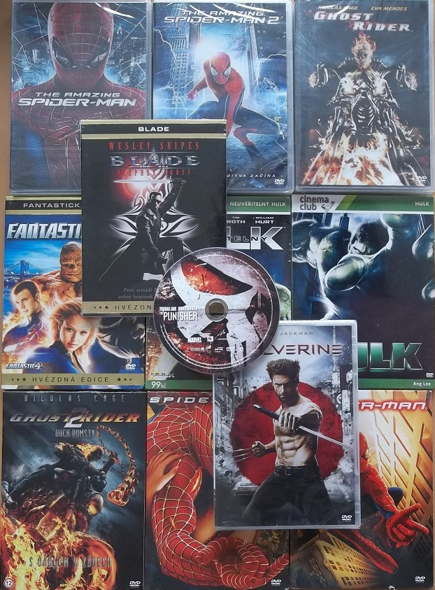 Kolekce filmů Marvel - 12 DVD
