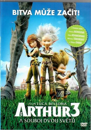 Arthur 3 / Arthur a souboj dvou světů ( plast ) - DVD
