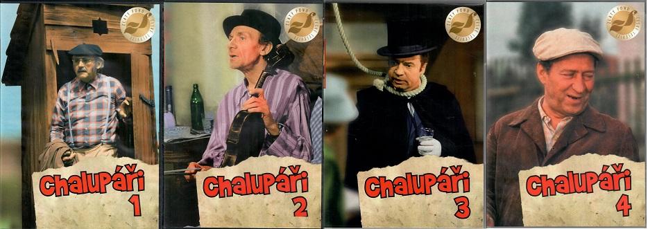 Kolekce Chalupáři 4x DVD Plast ( kompletních 11 dílů seriálu )