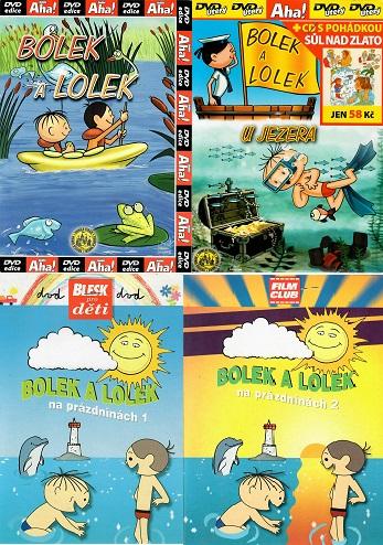 Kolekce Bolek a Lolek 4 DVD + 1 CD