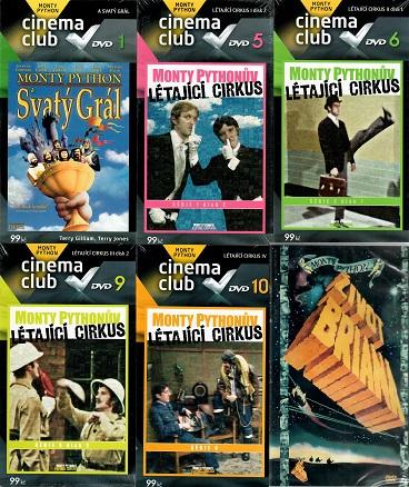 Kolekce Monty Pythonův létající cirkus  6 DVD ( nekompletní )