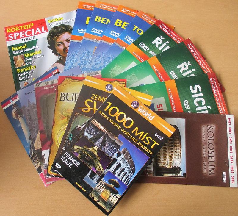 Kolekce ITÁLIE - cestopisy a zajímavosti - DVD