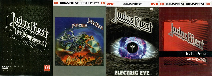 Kolekce Judas Priest ( 2xCD+2XDVD) papírové pošetky