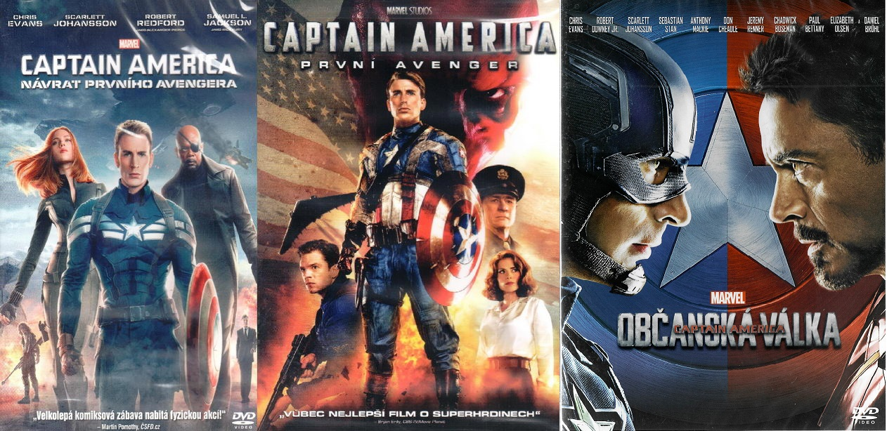 Kolekce Captain America 3x DVD