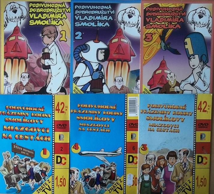 Kolekce Rodiny Smolíkovy ( nekompletní ) - 6 DVD