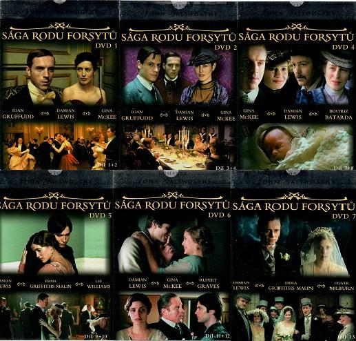 Kolekce - Sága rodu Forsytů - 6 DVD ( nekompletní )