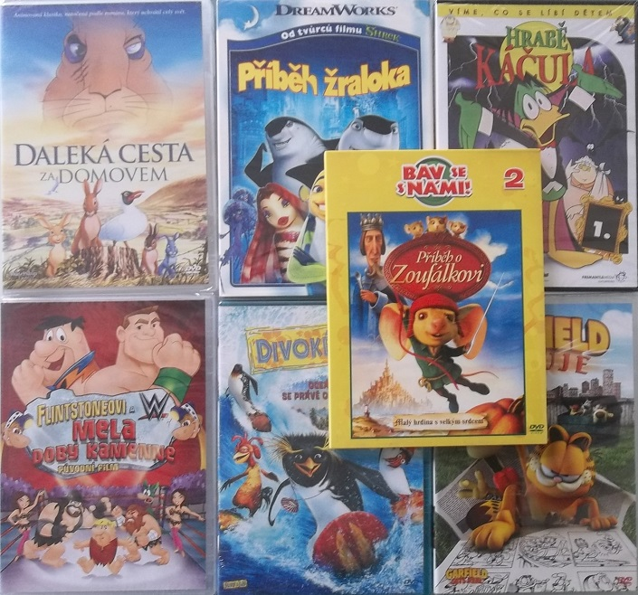 Kolekce Animáci - Kreslené americké pohádky -7 DVD