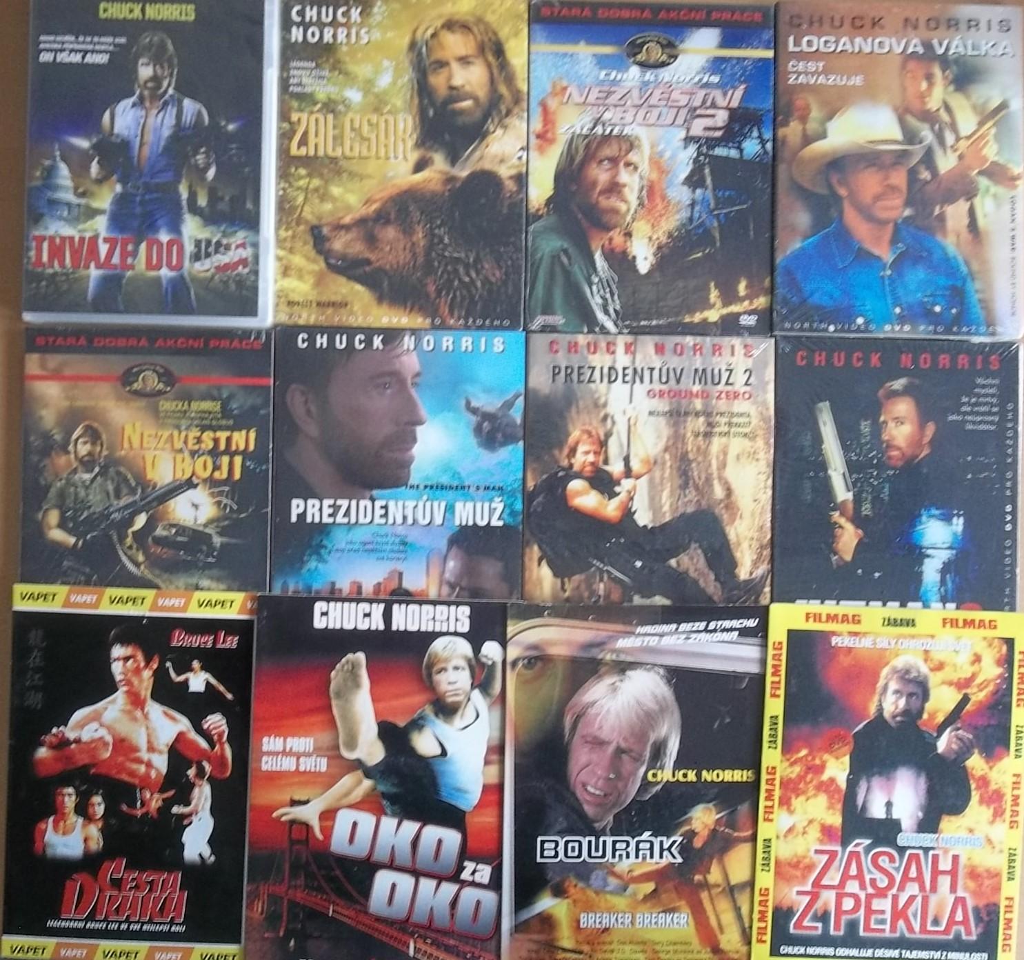 Kolekce Chuck Norris - 12 DVD