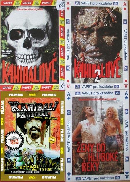Kolekce Kanibalové - 4 DVD pošetky