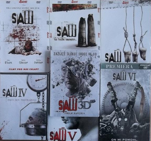 Kolekce Saw KOMPLETNÍ 7 DVD