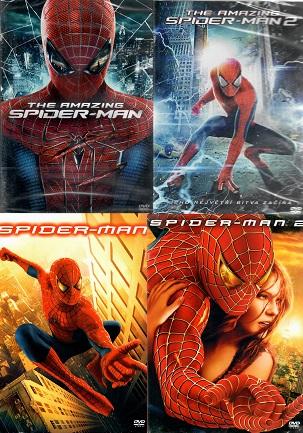 Kolekce Spider-man - 4 DVD ( nekompletní )