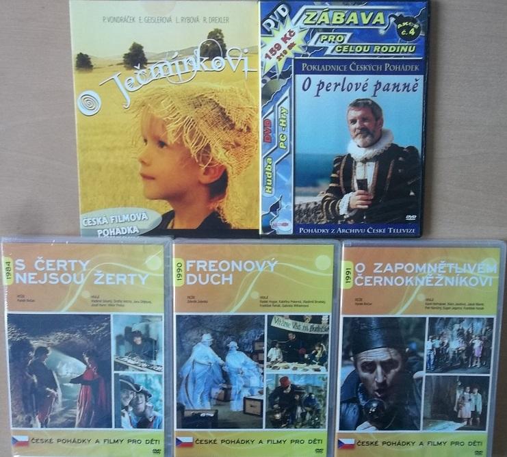 Kolekce České pohádky pro děti - 5 DVD