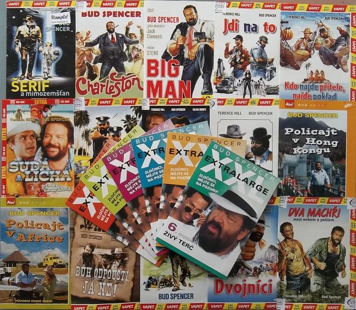 Velká kolekce filmů Bud Spencer - 21x DVD - papírové pošetky