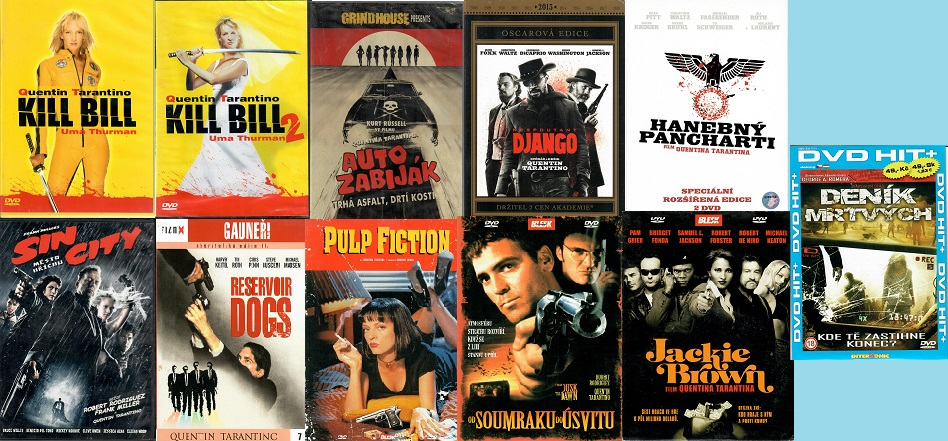 Kolekce Quentin Tarantino - 11 DVD