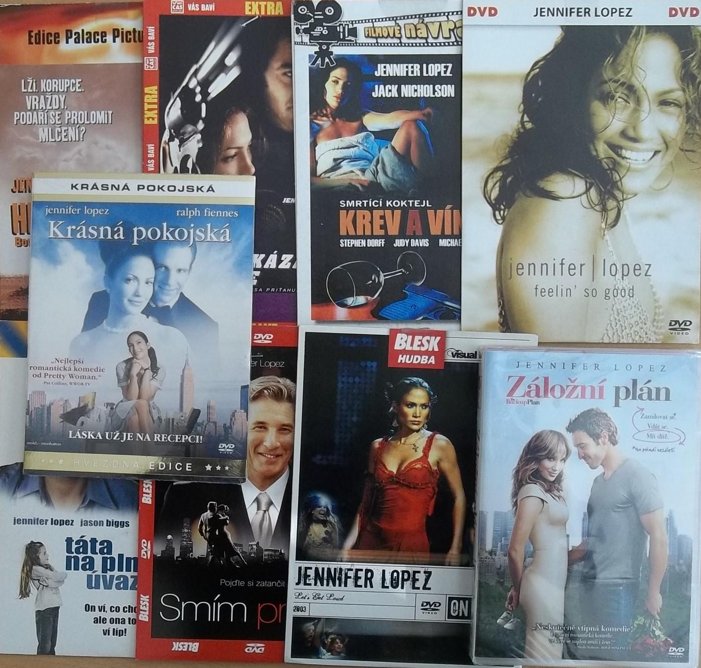 Kolekce Jennifer Lopez - 9 DVD