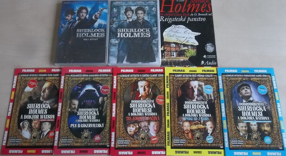 Kolekce Sherlock Holmes - 8 DVD + 3  CD