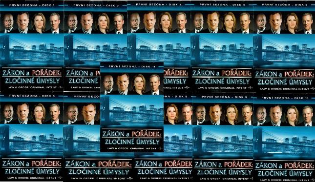 Kolekce Zákon a pořádek : Zločinné úmysly - 11 DVD