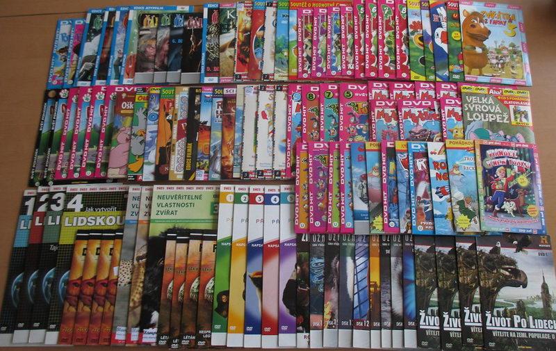 Velký akční výprodej Pohádky a přírodní dokumenty - 110 DVD