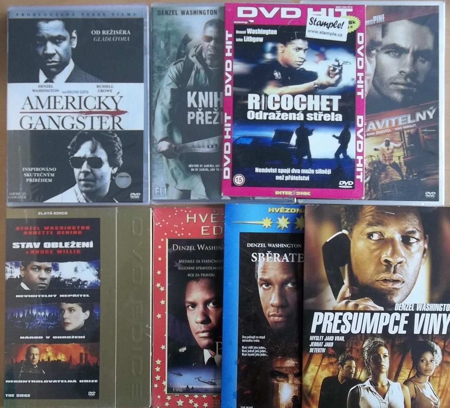 Kolekce Denzel Washington - 8 DVD