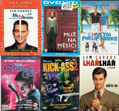Kolekce Jim Carrey 6x DVD