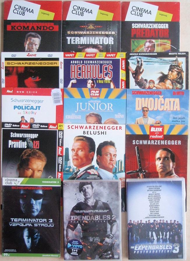Velká kolekce Arnold Schwarzenegger - 15 DVD