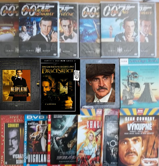 Kolekce Sean Connery - 15 DVD