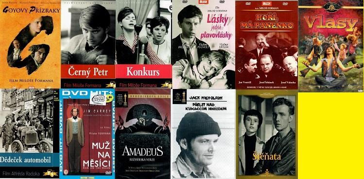 Kolekce Miloš Forman - 11 DVD