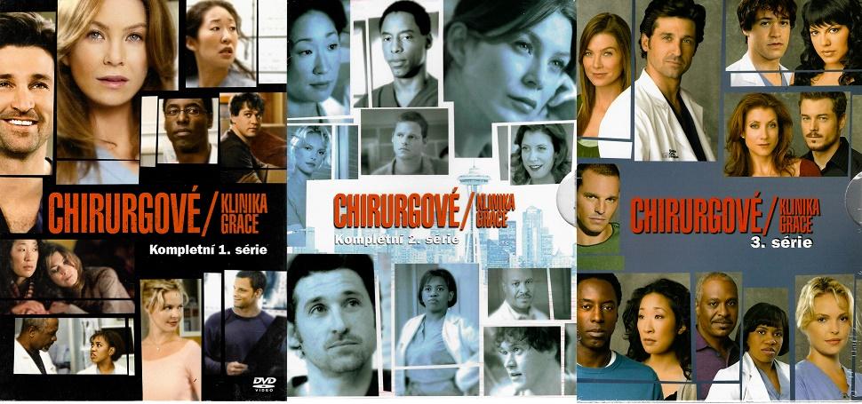 Kolekce Chirurgové - kompletní série 1-3 - DVD
