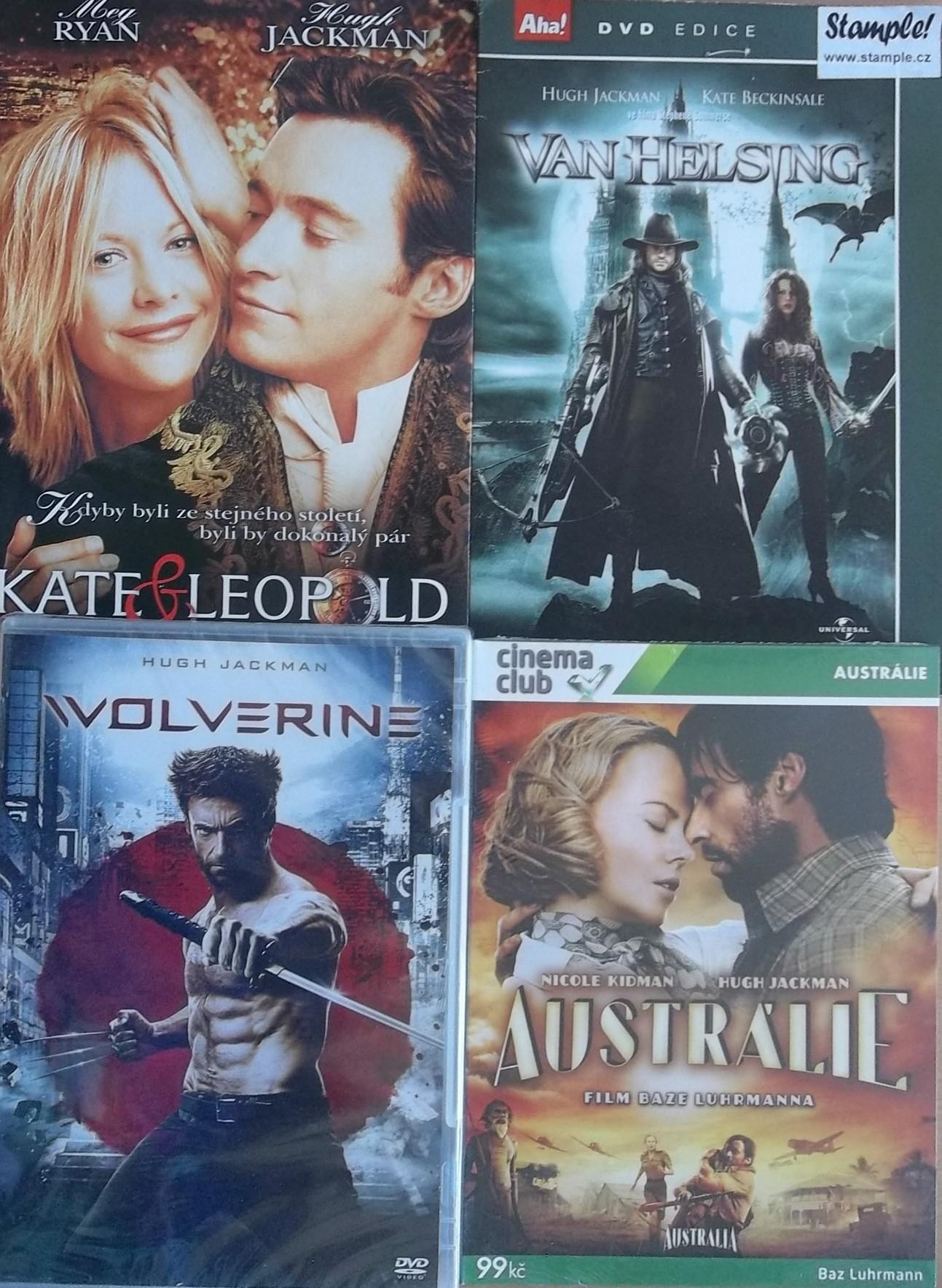 Kolekce Hugh Jackman - 4 DVD