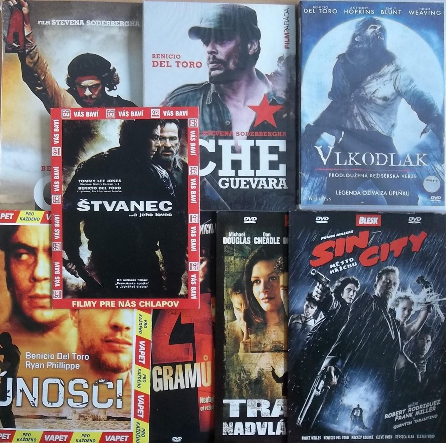 Kolekce Benicio Del Toro - 8 DVD