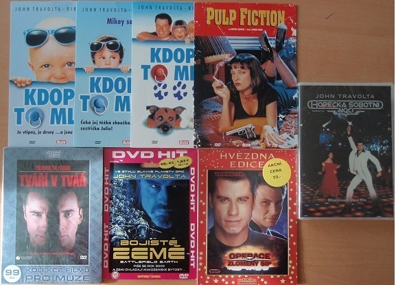 Kolekce John Travolta - 8 DVD