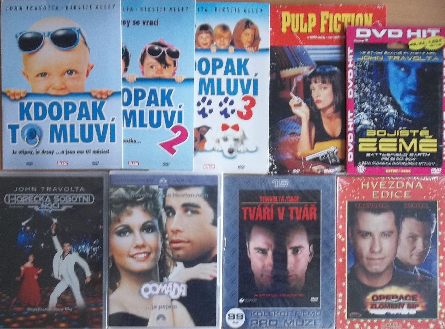 Kolekce John Travolta - 9 DVD