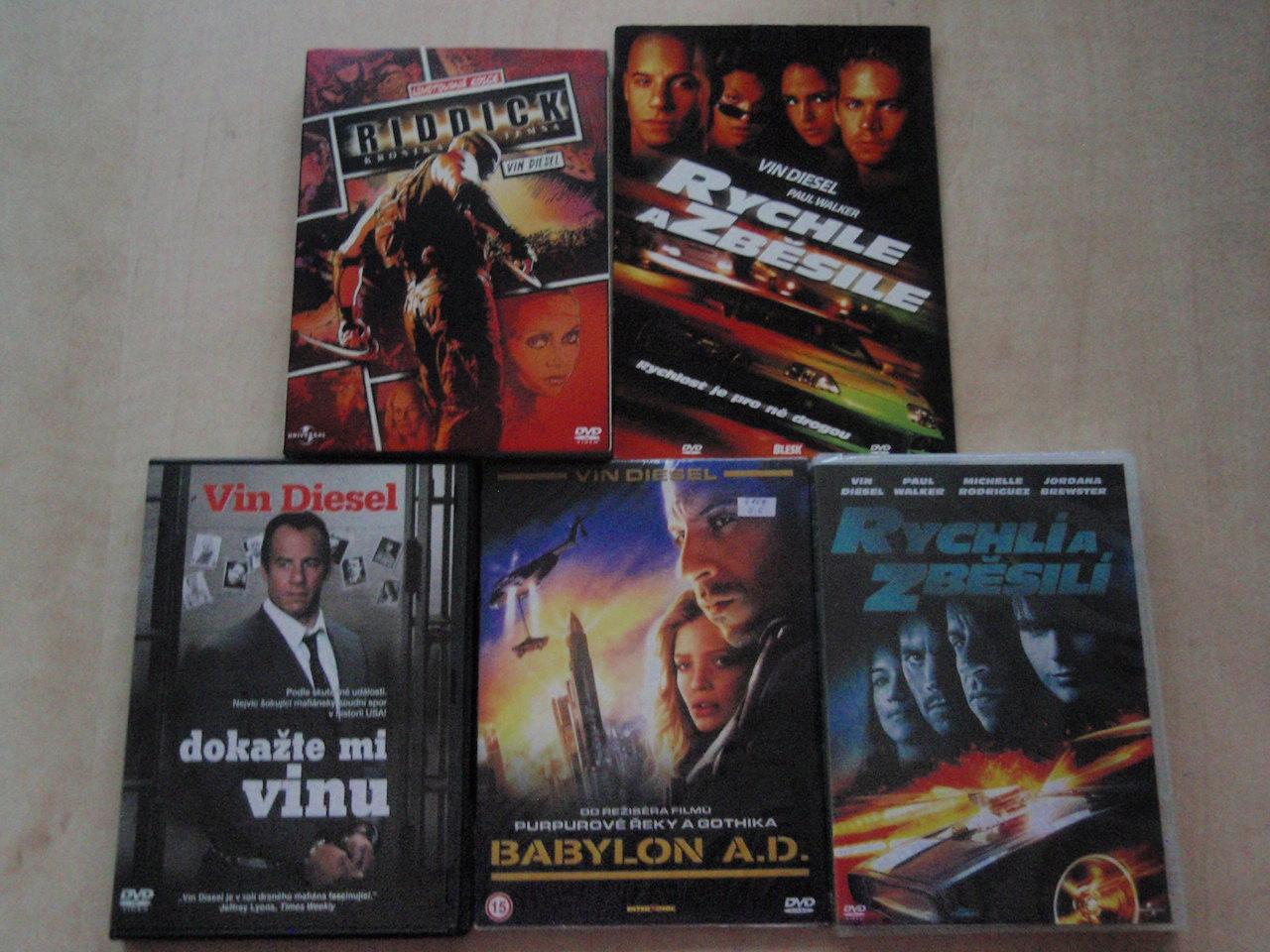 Kolekce Vin Diesel - 5 DVD