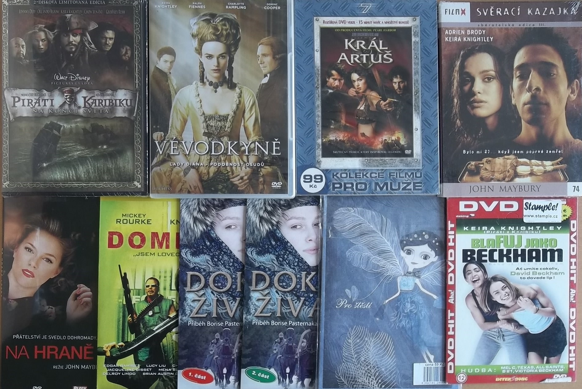 Kolekce Keira Knightley - 12 DVD