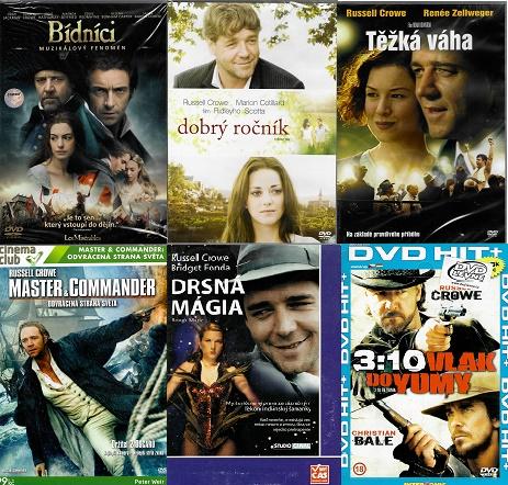 Kolekce Russell Crowe - 6 DVD