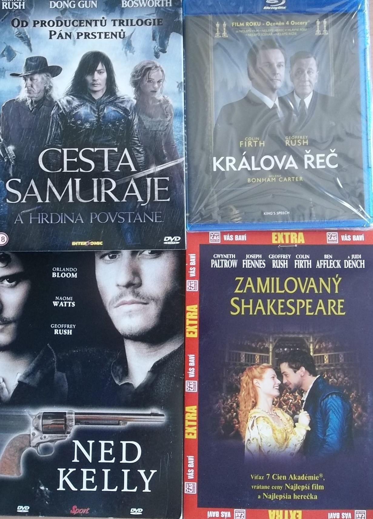 Kolekce Geoffrey Rush - 4 DVD