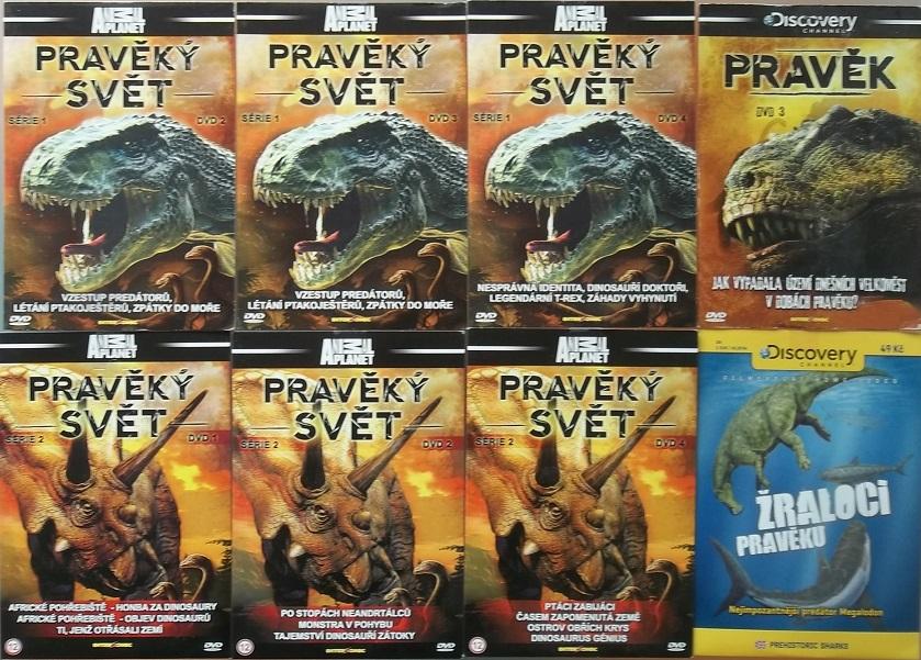 Kolekce Pravěký svět  - 8 DVD ( nekompletní )