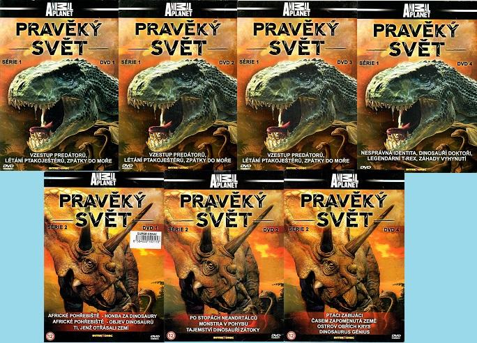 Kolekce Pravěký svět  - 7 DVD ( nekompletní )