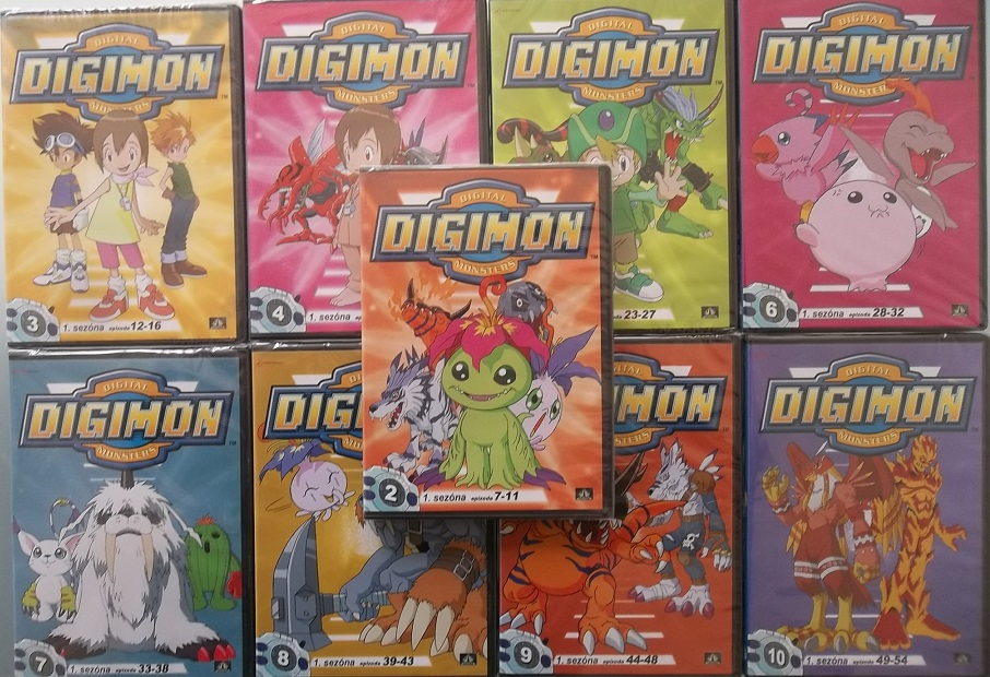 Kolekce Digimon monsters - 9 DVD ( nekompletní )